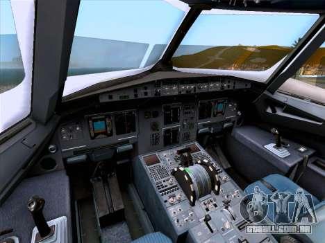 Airbus A320-214 Iberia para GTA San Andreas vista inferior