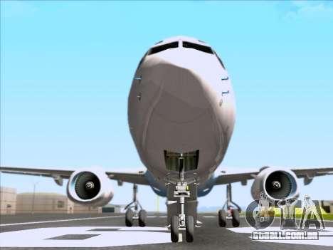 Boeing 737-800 Qantas para GTA San Andreas vista superior