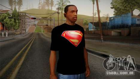 Man of Steel T-Shirt para GTA San Andreas
