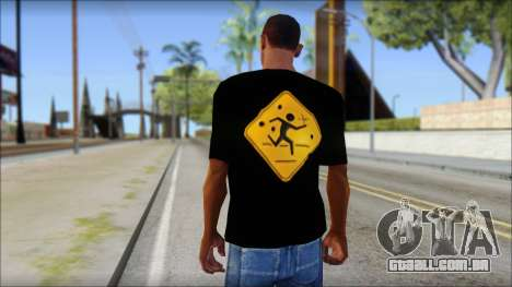 Running With Scissors T-Shirt para GTA San Andreas segunda tela