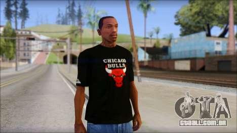 Chicago Bulls Black T-Shirt para GTA San Andreas