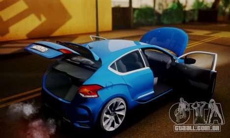 Citroen DS4 2012 para GTA San Andreas vista traseira