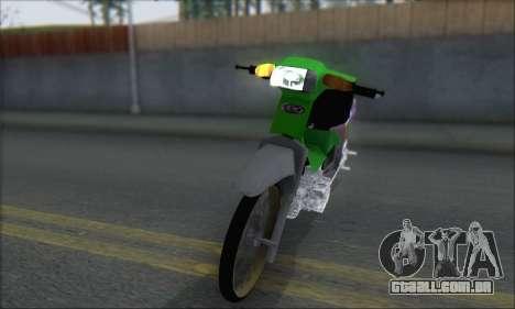 Kawasaki Kaze R para GTA San Andreas traseira esquerda vista