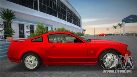 Ford Mustang GT 2005 para GTA Vice City vista traseira