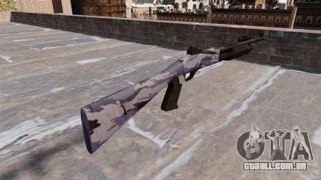 Ружье Benelli M3 Super 90 blue tiger para GTA 4 segundo screenshot