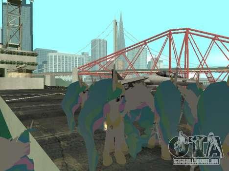 Princess Celestia para GTA San Andreas terceira tela