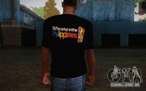 Its More Fun In Philippine T-Shirt para GTA San Andreas segunda tela