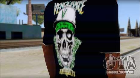 A7X New T-Shirt para GTA San Andreas terceira tela
