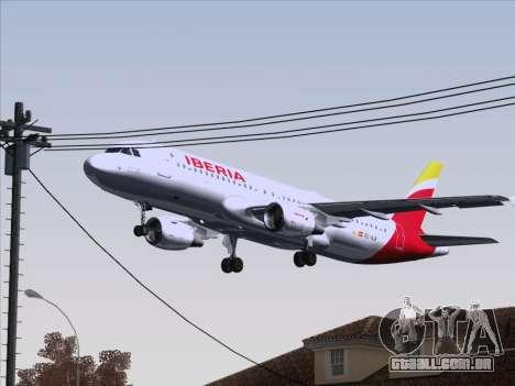 Airbus A320-214 Iberia para GTA San Andreas vista superior