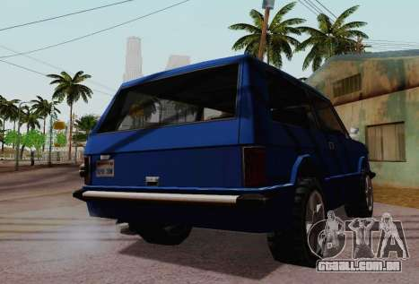 Huntley Coupe para GTA San Andreas vista interior