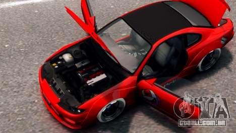 Nissan Silvia S15 Street Drift para GTA 4 traseira esquerda vista