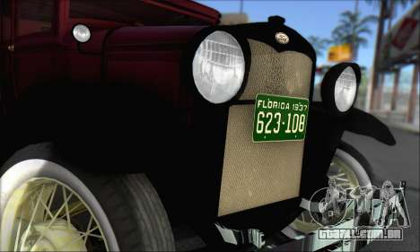 Ford A 1930 para GTA San Andreas vista direita