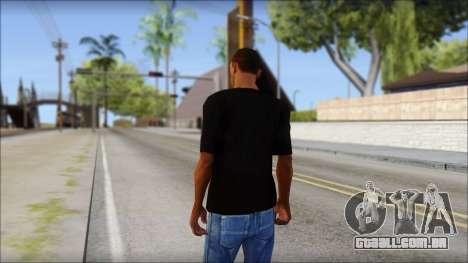 Chicago Bulls Black T-Shirt para GTA San Andreas segunda tela