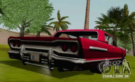 Savanna Coupe para GTA San Andreas traseira esquerda vista