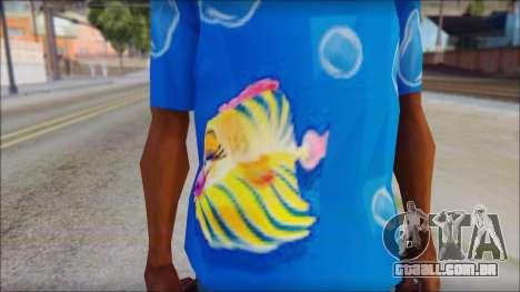 Fish T-Shirt para GTA San Andreas terceira tela