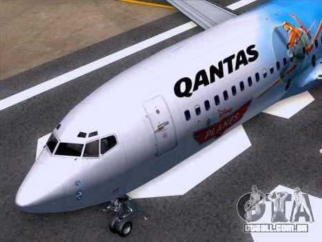 Boeing 737-800 Qantas para GTA San Andreas vista inferior