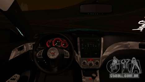 Subaru Impreza Stance Works para GTA San Andreas vista direita