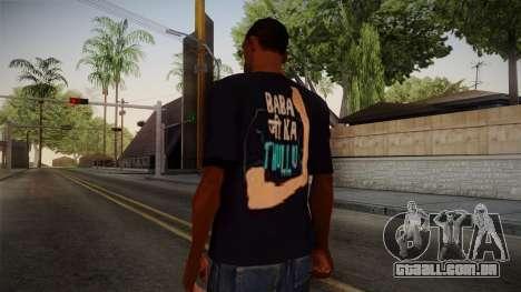 Babaji ka thullu T-Shirt para GTA San Andreas segunda tela