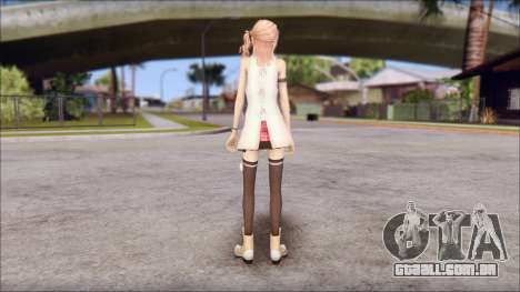 Final Fantasy XIII - Lightning Casual para GTA San Andreas segunda tela