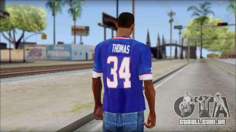 NY Buffalo Bills Blue para GTA San Andreas segunda tela