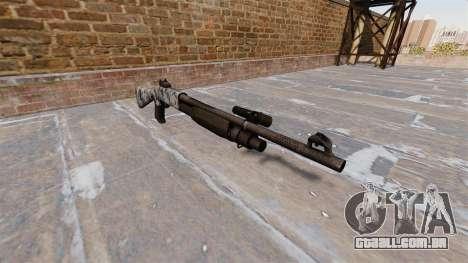 Ружье Benelli M3 Super 90 crânios para GTA 4