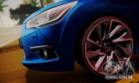 Citroen DS4 2012 para GTA San Andreas traseira esquerda vista