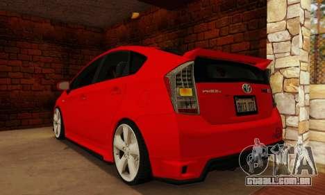 Toyota Prius Tunable para GTA San Andreas esquerda vista