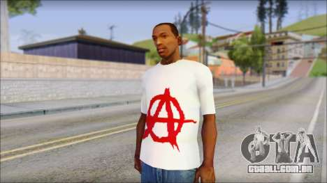 Anarchy T-Shirt v3 para GTA San Andreas
