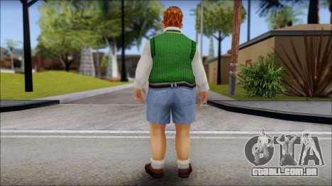 Algernon from Bully Scholarship Edition para GTA San Andreas segunda tela