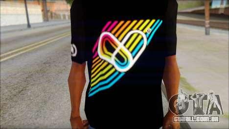 I Love Electro T-Shirt para GTA San Andreas terceira tela