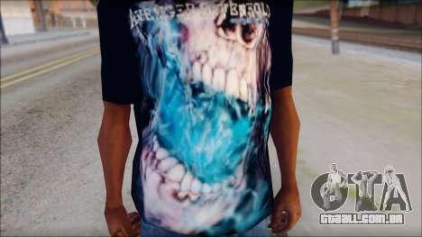 Avenged Sevenfold Nightmare Fan T-Shirt para GTA San Andreas terceira tela