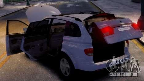 SsangYong Kyron para GTA 4 vista direita