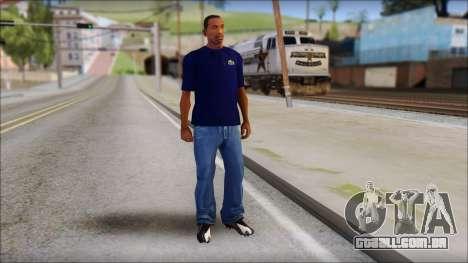 Blue Izod Lacoste Polo Shirt para GTA San Andreas terceira tela