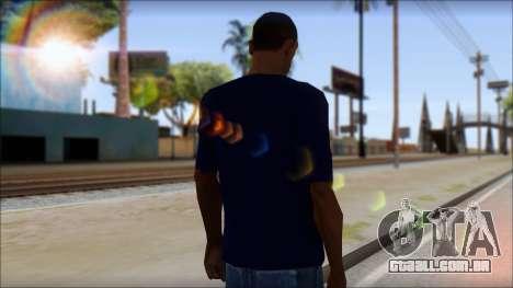 Blue Izod Lacoste Polo Shirt para GTA San Andreas segunda tela