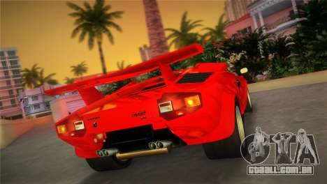Lamborghini Countach LP5000 QV TT Custom para GTA Vice City deixou vista