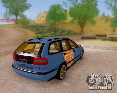 Volvo V40 para GTA San Andreas traseira esquerda vista