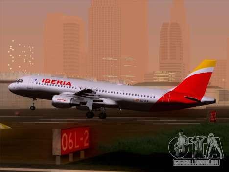 Airbus A320-214 Iberia para as rodas de GTA San Andreas
