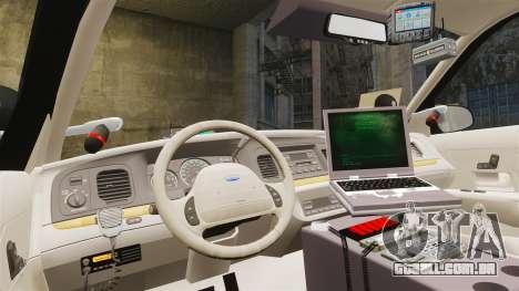 Ford Crown Victoria Sheriff [ELS] Unmarked para GTA 4 vista de volta