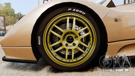 Pagani Zonda C12S Roadster 2001 v1.1 para GTA 4 vista de volta