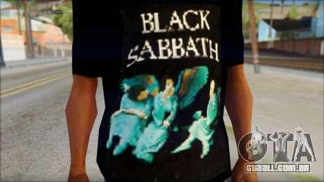 Black Sabbath T-Shirt v1 para GTA San Andreas terceira tela