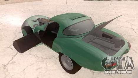 Jaguar E-Type para GTA San Andreas vista traseira