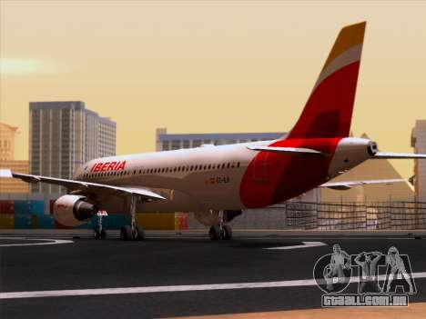 Airbus A320-214 Iberia para GTA San Andreas vista direita