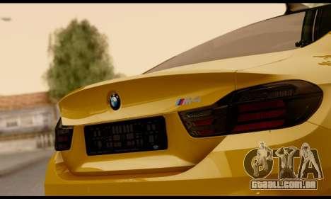 BMW M4 para GTA San Andreas vista interior
