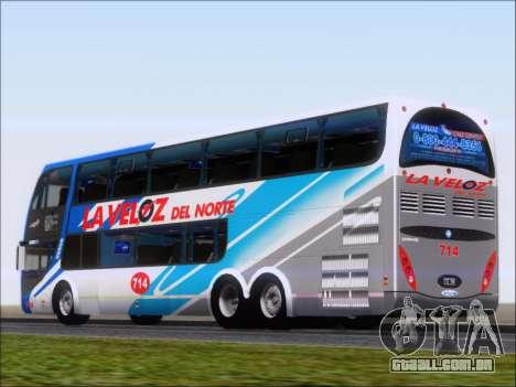 Metalsur Starbus DP 1 6x2 - La Veloz del Norte para GTA San Andreas traseira esquerda vista