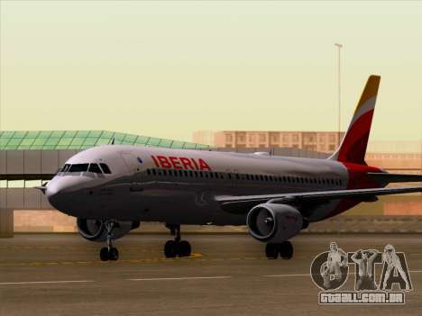 Airbus A320-214 Iberia para GTA San Andreas esquerda vista