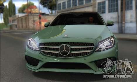 Mercedes-Benz C250 V1.0 2014 para GTA San Andreas traseira esquerda vista