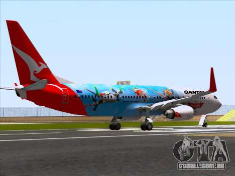 Boeing 737-800 Qantas para GTA San Andreas vista direita