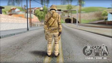 Desert SAS from Soldier Front 2 para GTA San Andreas segunda tela