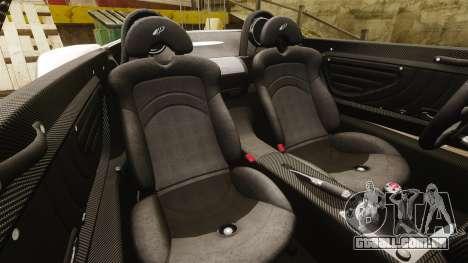 Pagani Zonda C12S Roadster 2001 v1.1 PJ1 para GTA 4 vista lateral