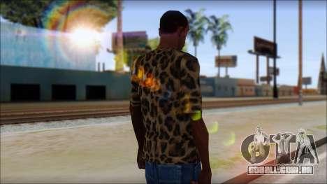 Tiger Skin T-Shirt Mod para GTA San Andreas segunda tela